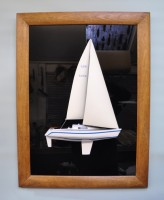 The finished half yacht model