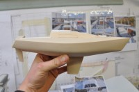 Half yacht hull with some detail added