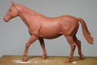 Horse 20 cms high modelled in wax for a giftware company