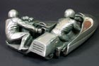 F2 Sidecar sculpted collectable cast in pewter for Compulsion Gallery