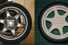 1/4 scale alloy wheel model